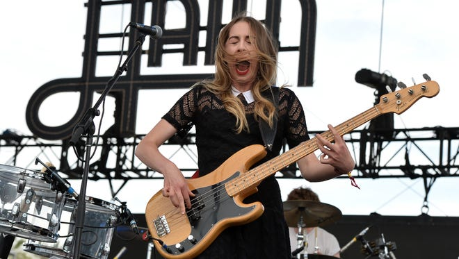 Este Haim of Haim performs onstage during day 1 of the 2014 Coachella Valley Music & Arts Festival at the Empire Polo Club on April 18, 2014 in Indio, Calif.