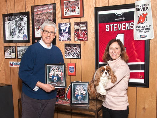 David and Joan Wynn, and their children, are dedicated fans of the New Jersey Devils hockey team. Marty, the family dog, is named after Devils' player Martin Brodeur.