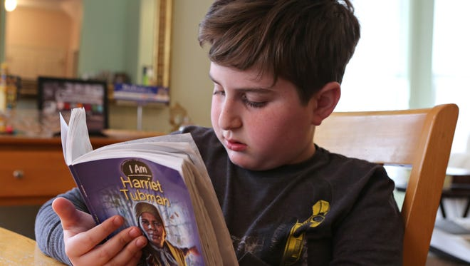 Derek Rudley, 10, a student in Ossining Union Free School District, stayed home April 14, 2015, after his mother, Lisa Rudley, had him opt out of New York state standardized tests.