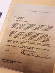 A letter dated July 21, 1920, to Evelyn Pegues from