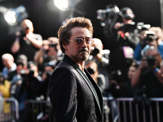 Robert Downey Junior attends the premiere of Disney