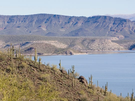 Lake Pleasant northwest of Phoenix
