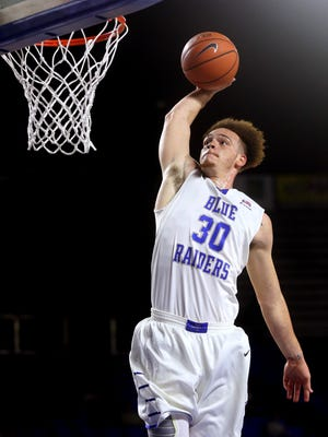 MTSU's Reggie Upshaw Jr. is coming off a 32-point, 12-rebound game against Trevecca.