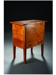 A sugar chest made by Daniel Corban, on view and for