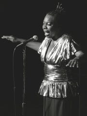 Nina Simone, shown performing at Avery Fisher Hall