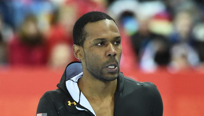 Shani Davis of the USA ended up 11th in the 1,500.
