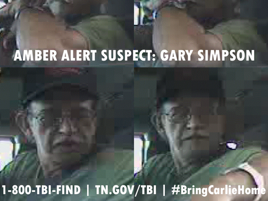 Warrants for kidnapping have been issued for Gary Simpson, a 57-year-old white male, 5 feet 10 inches tall, weighing 157 pounds. He is balding and has brown hair and eyes. He was last seen wearing a brown cap, a dark colored shirt and jeans.