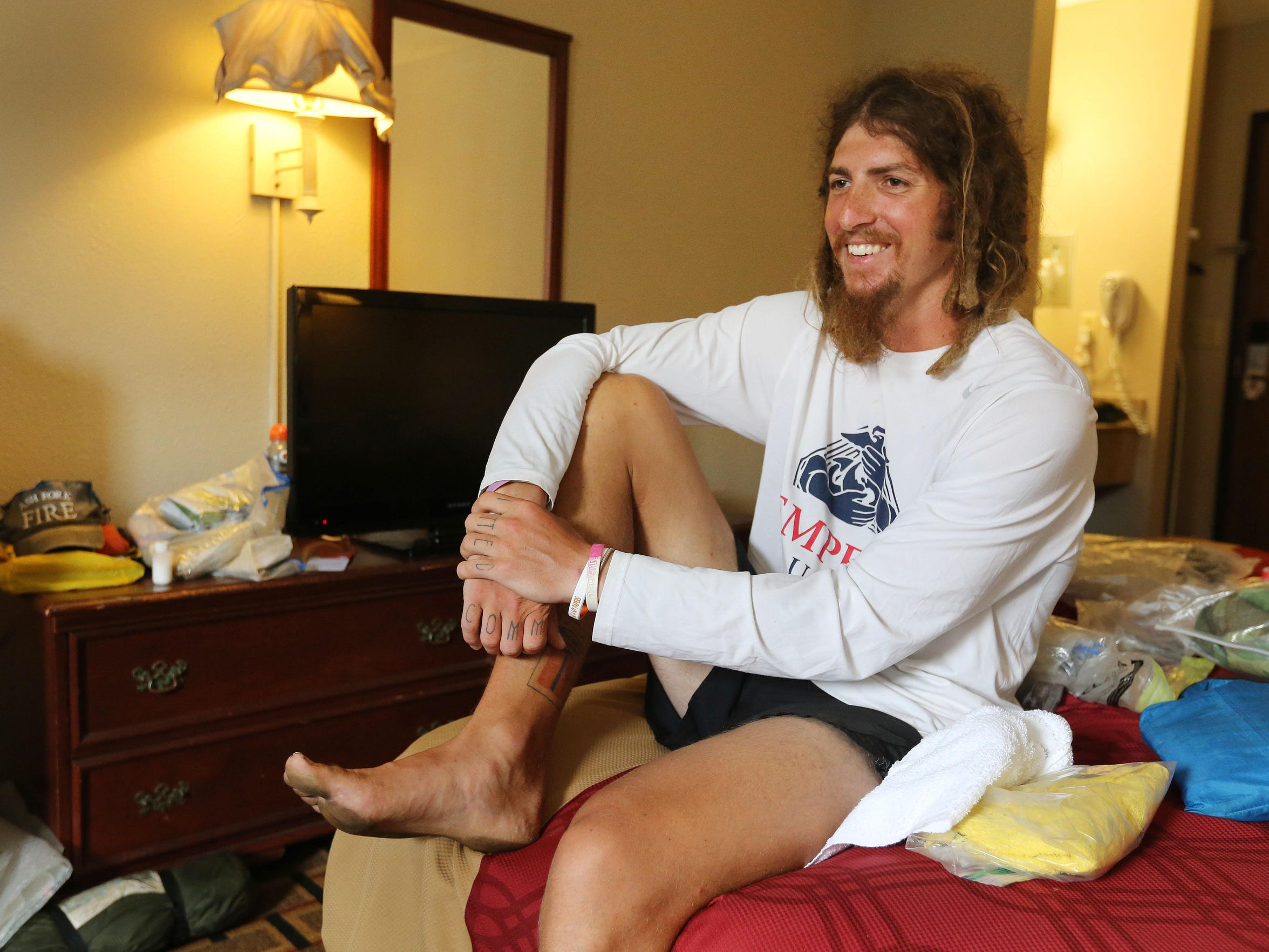 Jake Brown is running barefoot from California to New