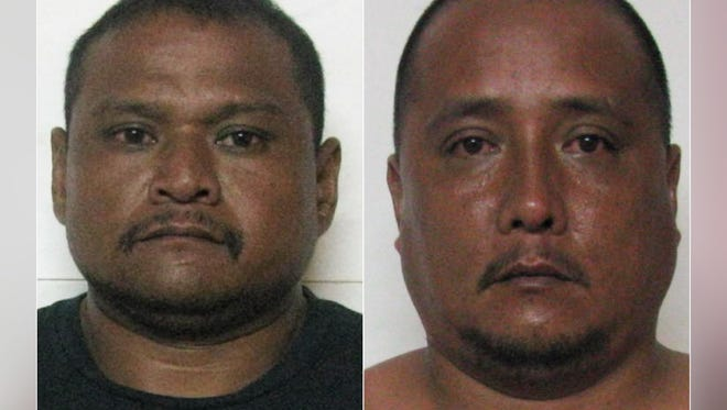 Jesse Santos, left, and Allen James Toves, right, are shown in this combined photo.