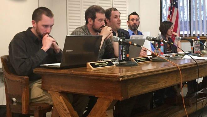 Winooski's City Council convenes Monday evening at Winooski City Hall.