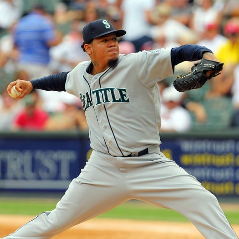 A model of consistency throughout his career, Mariners pitcher Felix Hernandez has struck out more than 200 batters in six consecutive seasons.