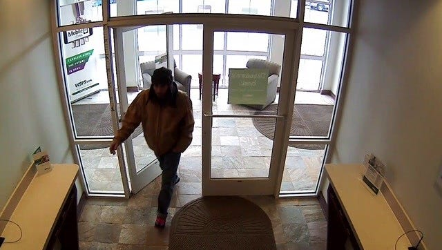 State police are looking for this man who robbed a WSFS Bank branch near Rehoboth Beach Monday.
