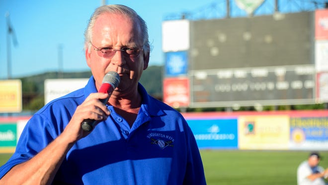 Mike Urda, president for the Binghamton Mets, announces that the Mets have extended their lease for NYSEG Stadium in Binghamton through the 2021 season on Sep 3, 2014.