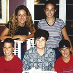 Michael Del Zotto, front left, was devastated when his grandmother, Luisa, died of breast cancer at age 64.
