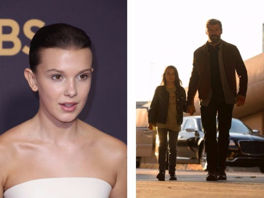 Millie Bobby Brown (left) and Dafne Keen as Laura/X-23