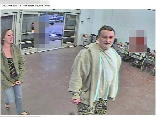 Police are looking for information on two people suspected in a south Hanover Walmart theft.