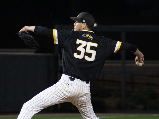Southern Miss pitcher Walker Powell is 4-2 for the Golden Eagles this season.
