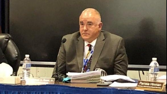 Sparta Superintendent Michael Rossi, pictured above at a board meeting in October, was placed on administrative leave by the Board of Education at the end of a special meeting Tuesday.