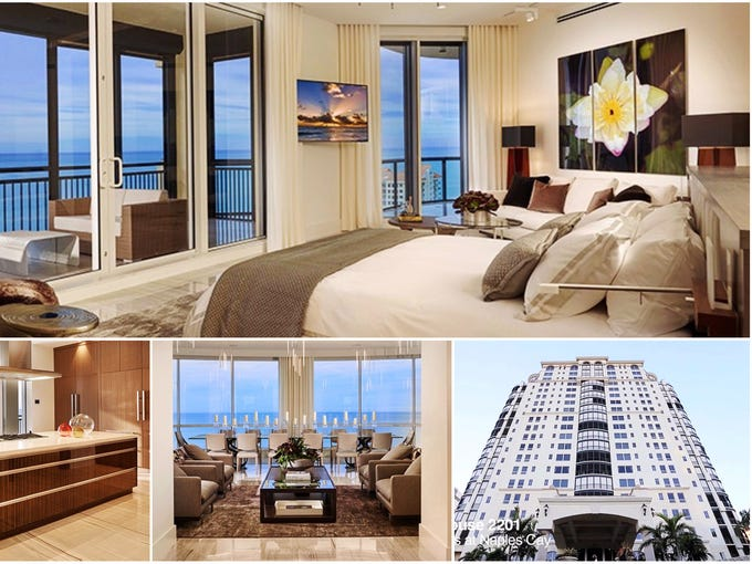 The interior of penthouse 2201 at the Seasons at Naples