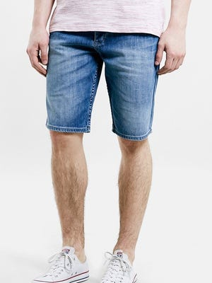 Slim-fit denim shorts by Topman are $60 at www.nordstrom.com.