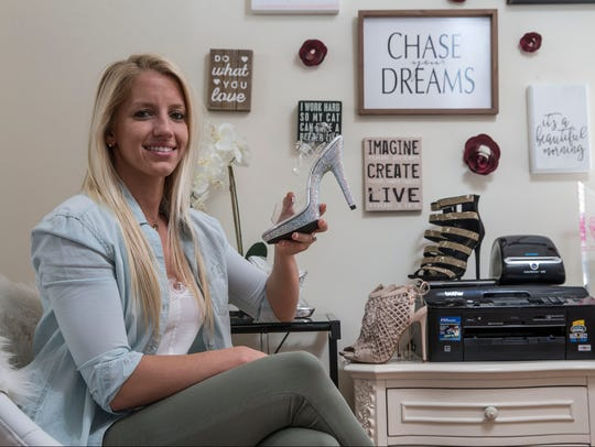 Alexa Stimpfel, owner of The Shoe Fairy, an online