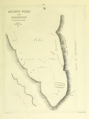 Seeley Hill mound from Lapham's 1851 publication.
