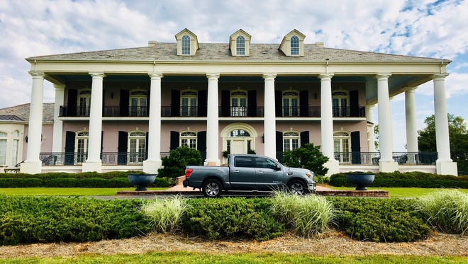 Driving up the long driveway, the mansion is breathtaking with its huge, white Corinthian columns reminiscent of antebellum homes on southern plantations.