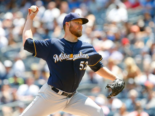Brewers starter Jimmy Nelson is putting together the