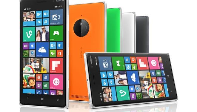 The Nokia Lumia 830.