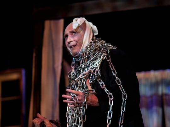 Jacob Marley is played by Michal McDonald Thursday