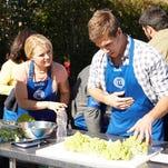 "Contestants Katie Dixon, left, and Dan Paustian are shown in Wednesday's ""MasterChef"" episode."
