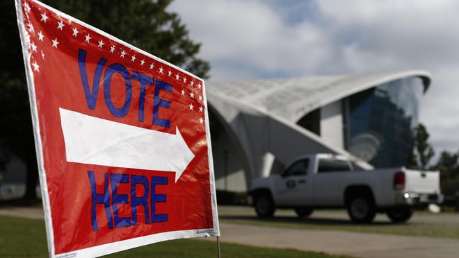 Stegeman Coliseum on the campus of the University of Georgia opened for early voting on Tuesday, Oct. 27, 2020.