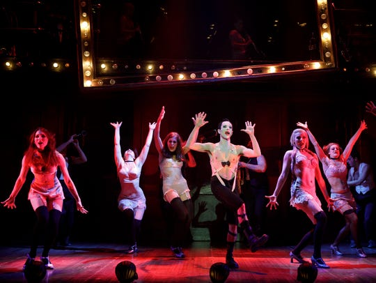"The 2018 company of ""Cabaret."""