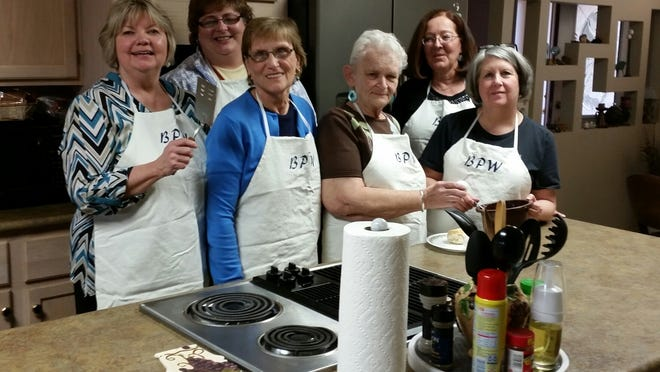The Mountain Home Business and Professional Women 36th Annual Omelet Brunch and Bake Sale is set for 8 a.m. to noon Saturday at the American Legion Hall, 717 Market St. Tickets are $5 and are available from B&PW members or at Integrity First Bank. Children age 6 and younger are free when accompanied by an adult. Proceeds go the Mountain Home B&PW Scholarship Fund to benefit area students. Members making sample omelets are Barbara Cons, Cindy Isbell, Bette Gould, Carol Abel, Colleen Stephenson and President Donna Hopkins.