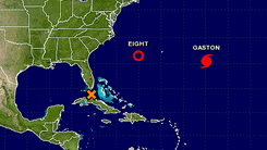 Tropical Depression Eight formed Sunday morning off