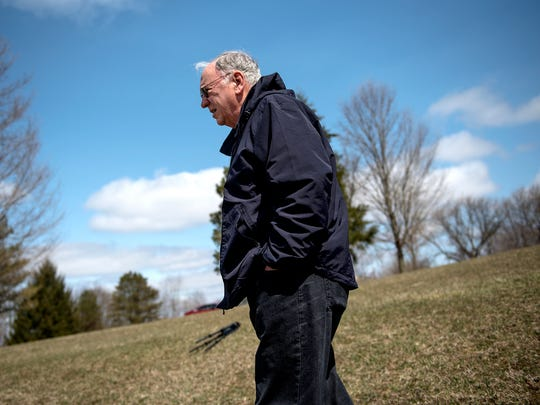 Bill Savage of Mason, a retired Holt High School history teacher, recalled hearing about a lynching that took place in Ingham County in 1866. Savage, visiting Deadman's Hill Park in Delhi Township April 18, 2018, wants the brutal death of John Taylor, a former slave and Civil War soldier, to be remembered. There are no plaques at the park where his body is believed to be buried. Township officials said the park was so named because of the lynching.