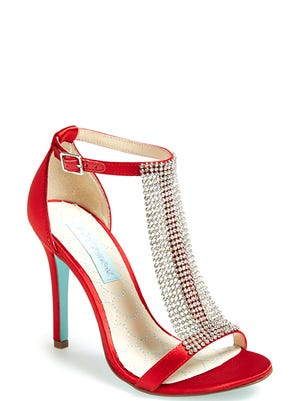 Bold gemstone hues radiate this fall. Blue by Betsey Johnson mesh sandal, $148.95 at Nordstrom.