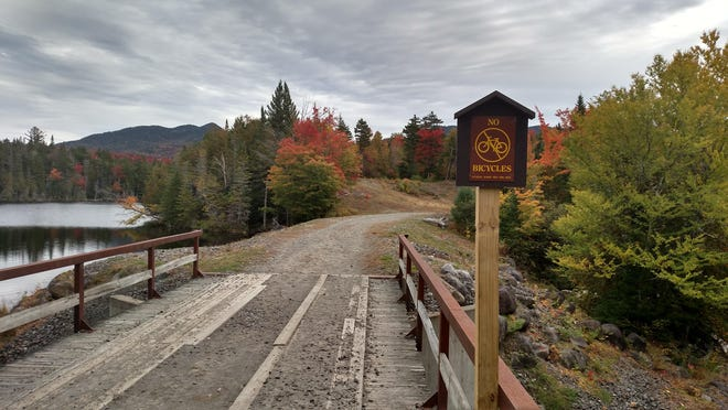 This bridge carries a road over the Boreas River near the dam that forms Boreas Ponds, a manmade impoundment.