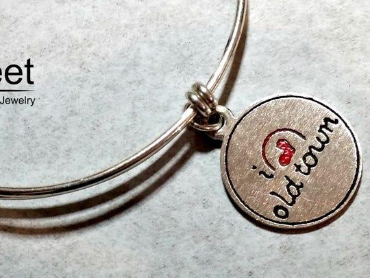 Sweet Custom Jewelry I Love Old Town custom made bracelet.