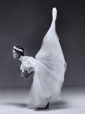 """Meridith Benson, co-Artistic Director of de la Dance Company, dances the title role in """"Giselle."""" The production will take place through Feb. 21 in the Jarson-Kaplan Theatre of the Aronoff Center in downtown Cincinnati."""