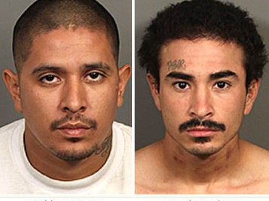 Authorities served gang-related search warrants in Coachella Thursday morning. Eight suspects were arrested and four guns were confiscated.