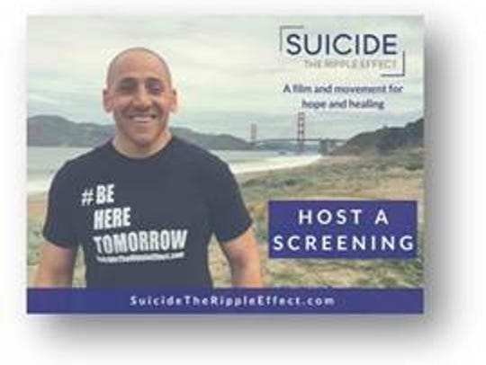 "A screening of ""Suicide: The Ripple Effect"" will be"