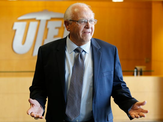 Former and now interim head coach Mike Price walks