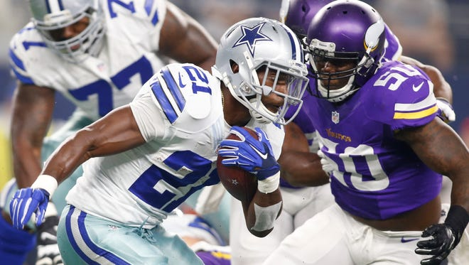 Cowboys  RB Joseph Randle averaged nearly 7 yards per carry in 2014.