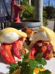 Cork Soakers has a Sunday brunch lobster eggs Benedict