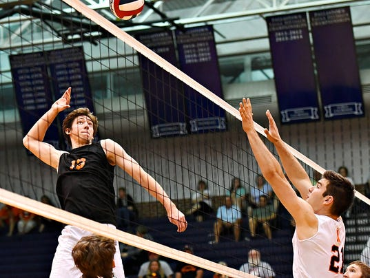 York Suburban vs Northeastern in boys' D-3, Class 2-A volleyball semifnal