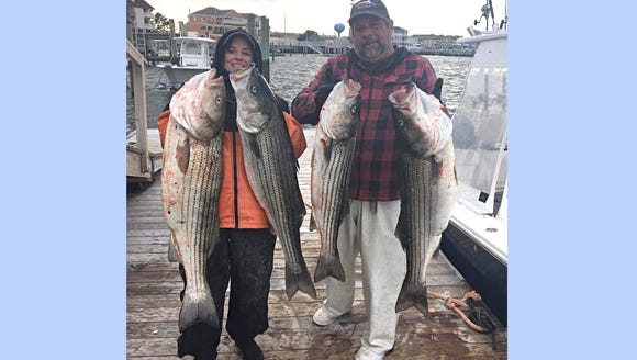 Captain Jim with Gregmar Charters caught some big bass