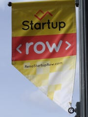 Startup Row banners on First Street.