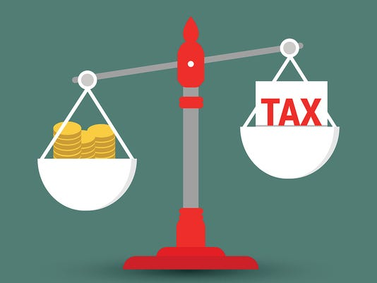 Tax Concept with Rupee