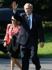 President George W. Bush and White House Press Secretary